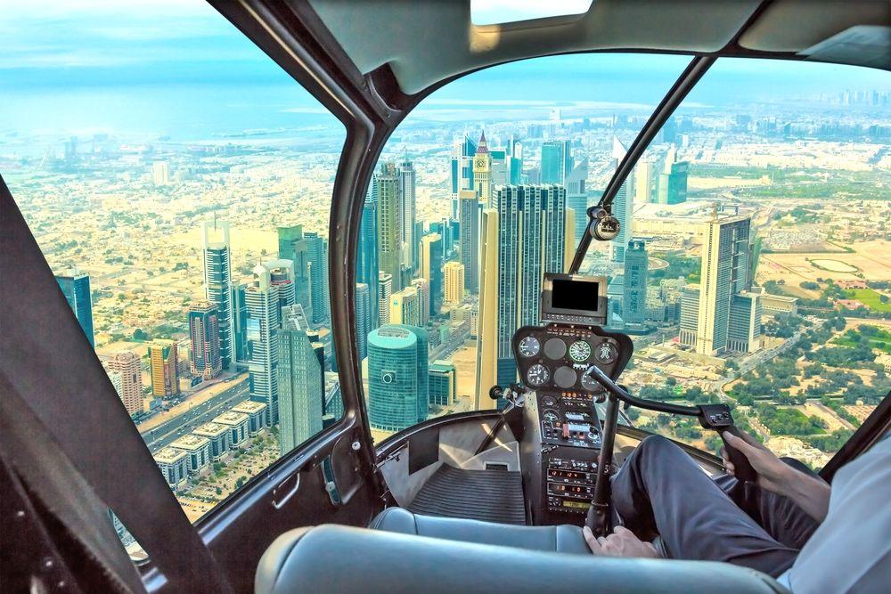 Activité hélicoptère à Dubai