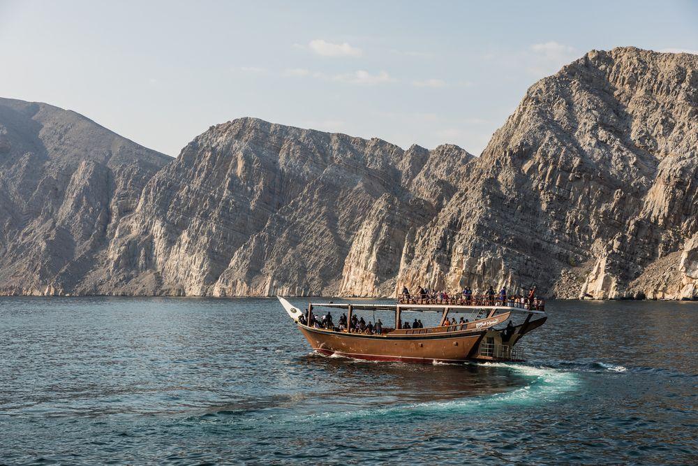 Fjord du sultanat d'Oman
