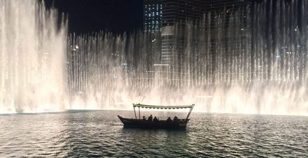 Fontaine de Dubai : balade en bateau, abra