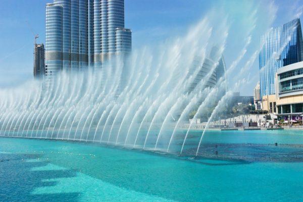 Fontaine de Dubai en journée