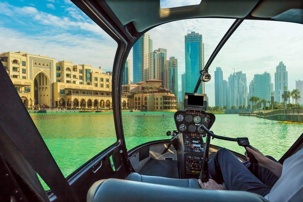 Hélico à Dubai
