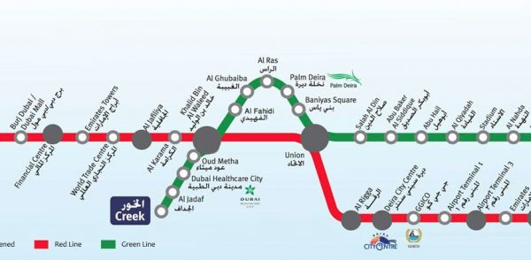 Portion du métro de Dubai
