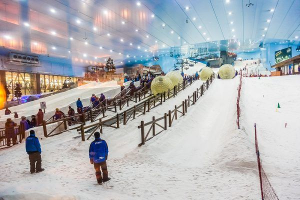 Ski Dubai, skier à Dubai