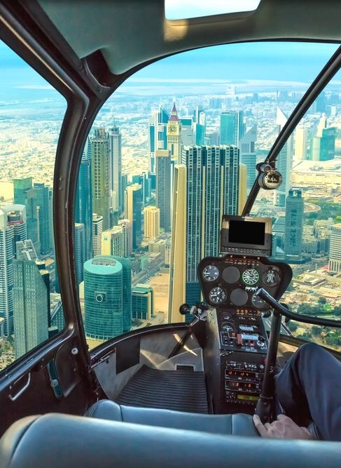 Top 10 à Dubai : hélicoptère