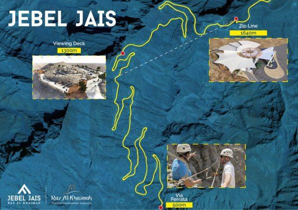 Tyrolienne du Jebel Jais à Ras al Khaimah