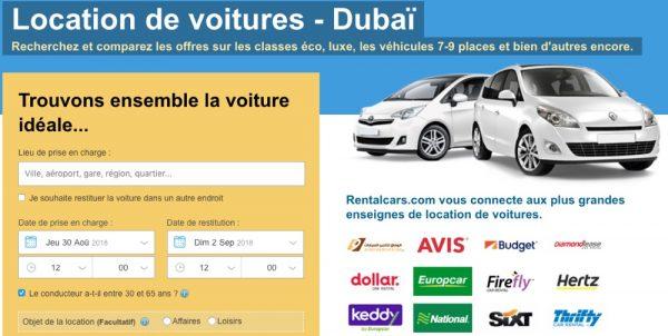 Bon plan location de voiture à Dubaï